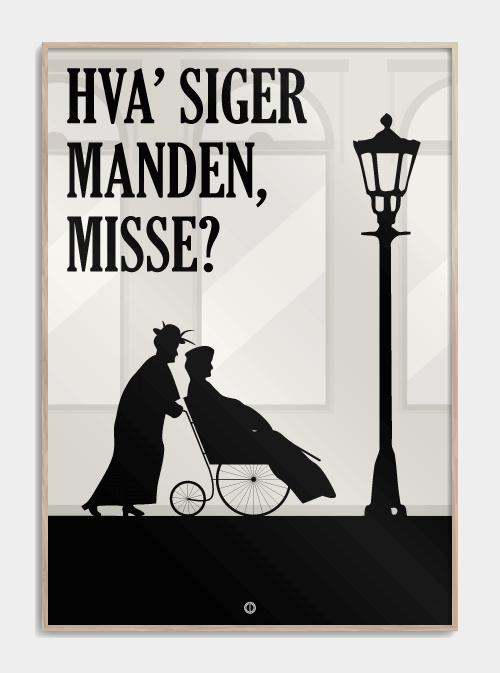Matador plakat - Hva' siger manden