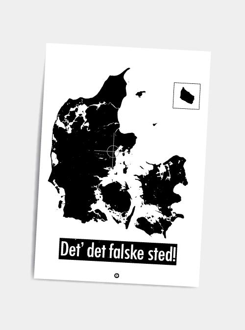 Det falske sted - postkort