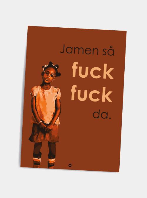 den eneste ene sjove citat postkort