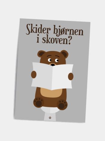 Sjovt postkort