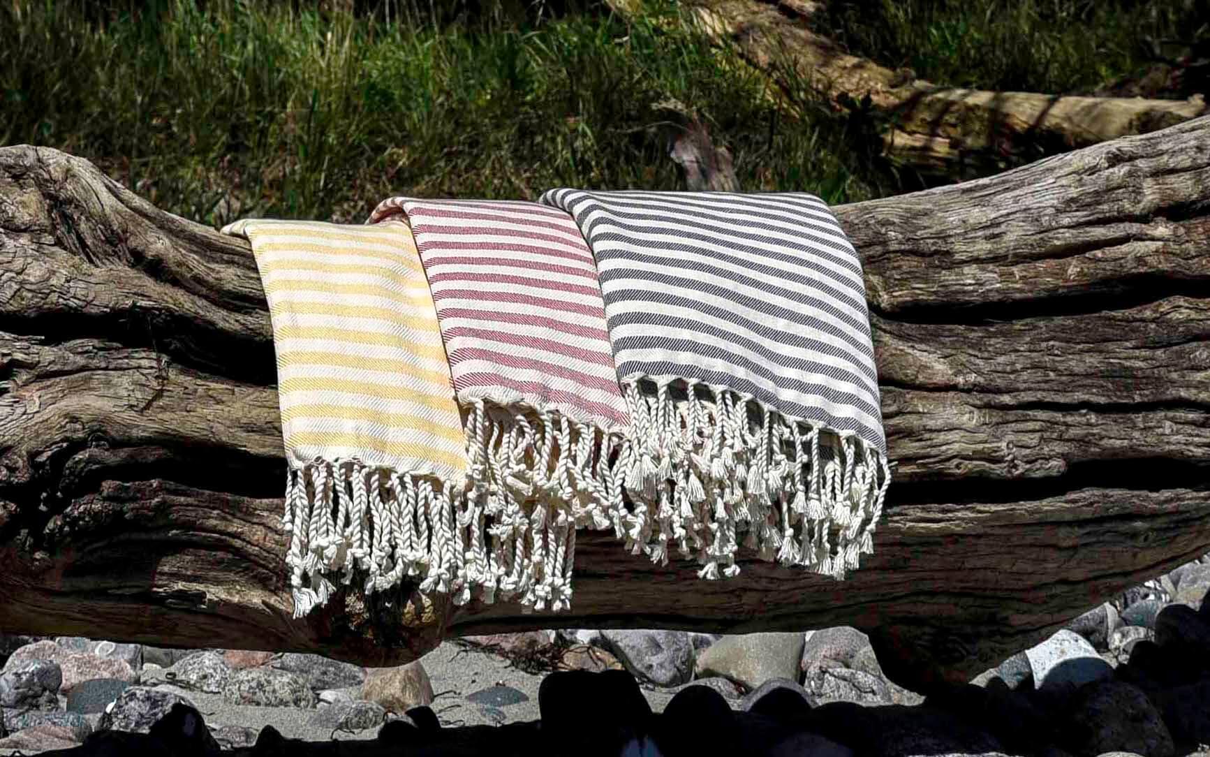 Hammam håndklæder / stribede standhåndklæder fra Bohobeach
