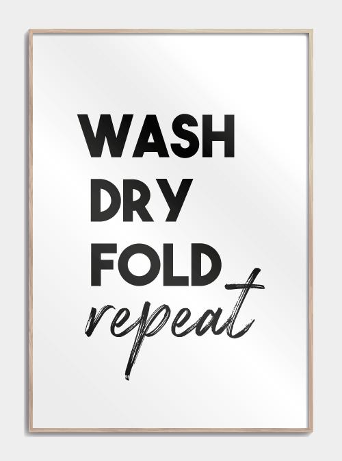 vasketøjs plakat