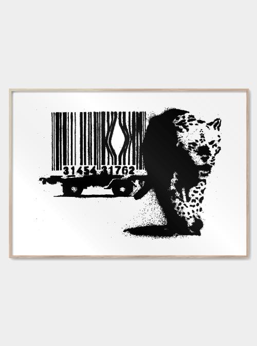 Barcode - Banksy plakat