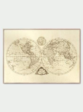 Vintage verdenskort globus