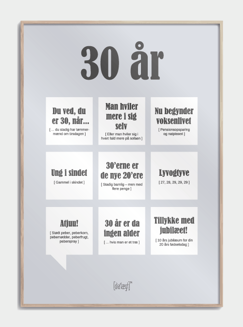 Image of   30 år plakat