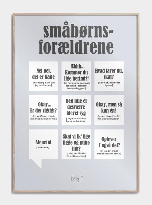Småbørnsforældrene plakat