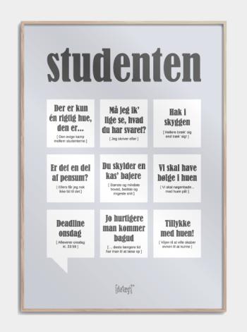 Sjov plakat til studenterne