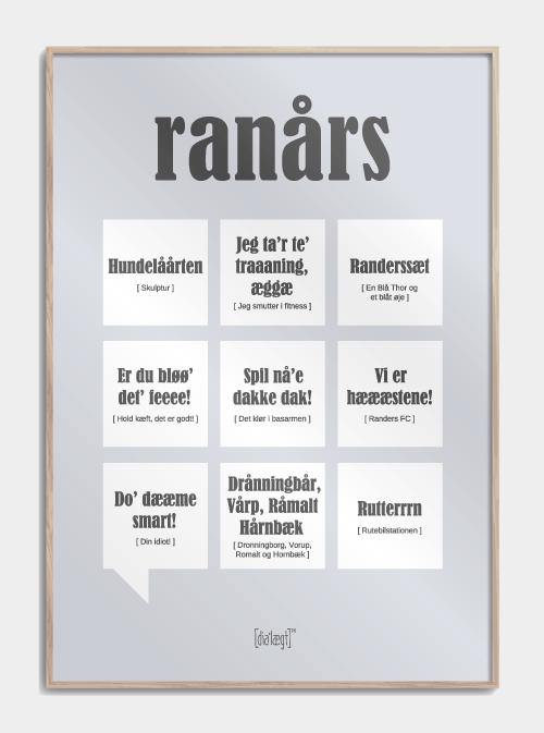 Sjov plakat om Randers