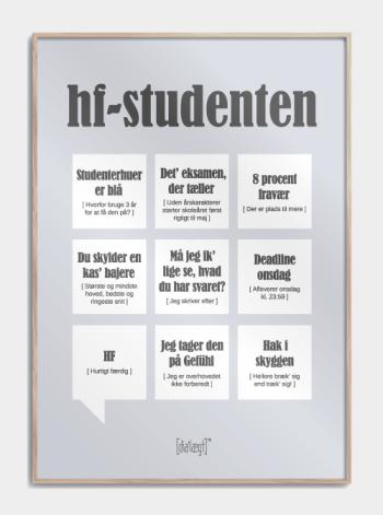 Sjov plakat til HF-studenten