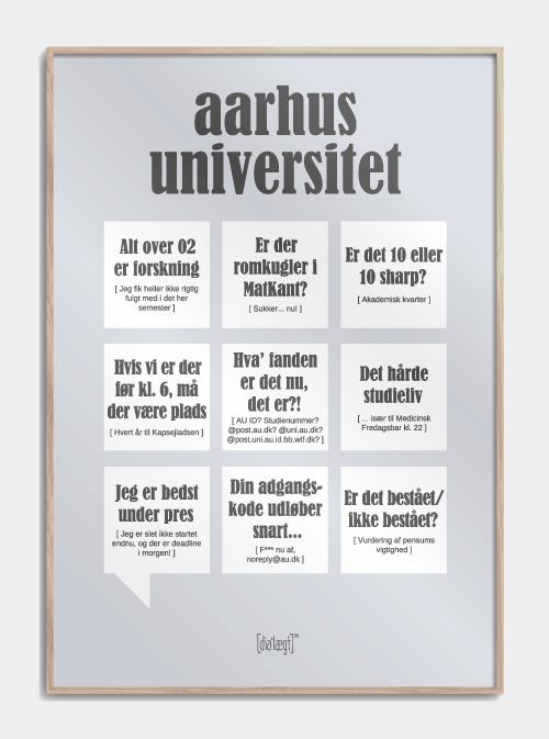 Image of   Aarhus Universitet plakat