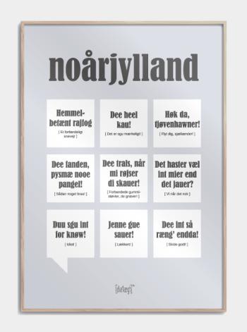Sjov plakat om Nordjylland