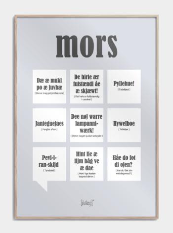 Sjov plakat om Mors