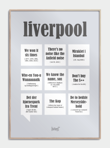 Sjov plakat til Liverpool fans