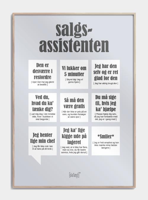 Salgsassistenten plakat