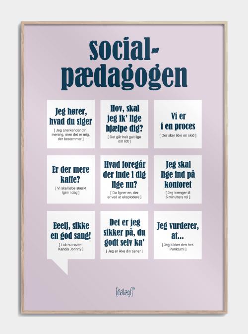 Sjov plakat til socialpædagogen