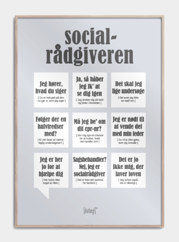 Sjov plakat til socialrådgiveren