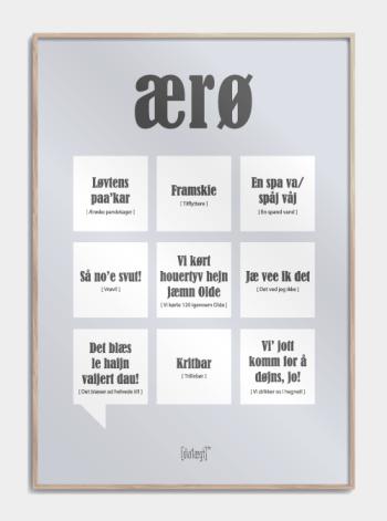 Sjov plakat om Ærø