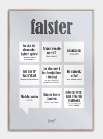 Sjov plakat om Falster