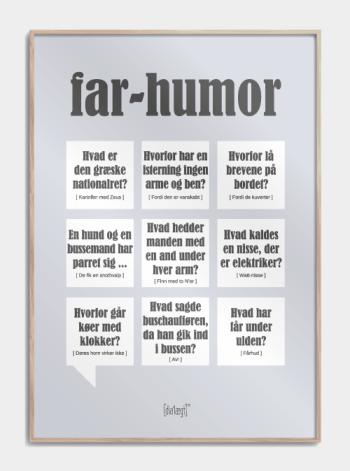 Sjov plakat til faren som fortæller far-jokes