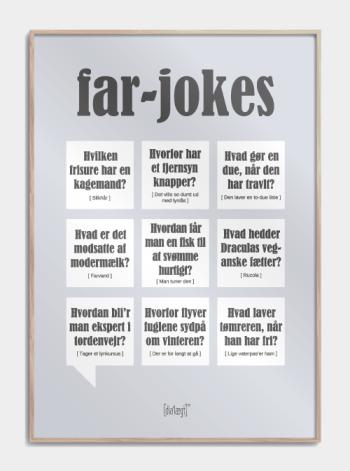 Sjov plakat til faren som fortæller far-jokes,