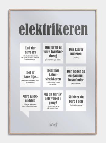 Sjov plakat til elektrikeren