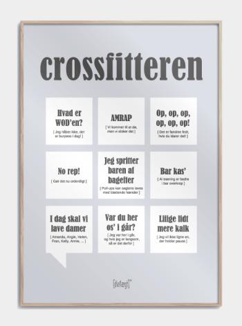 Sjov plakat om crossfitteren