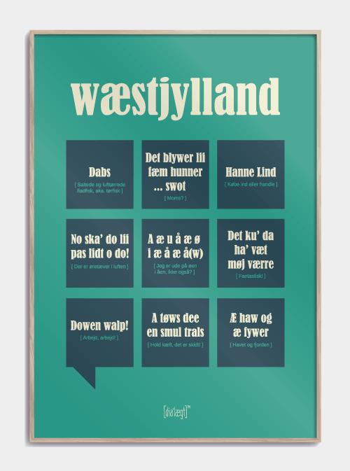 Sjov plakat om Vestjylland