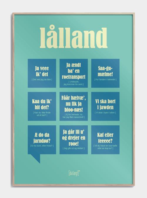 Sjov plakat om Lolland