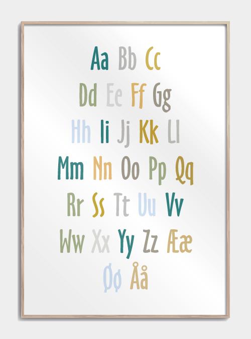 Image of   Alfabet - Børneplakat