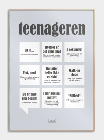 teenager plakat i graa