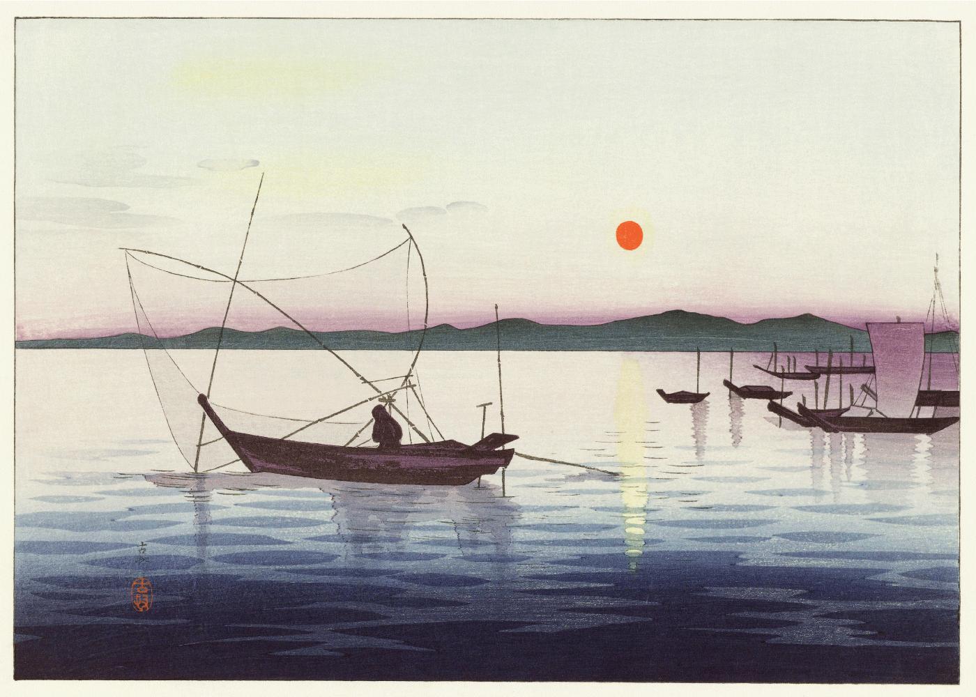 Billede af Harbor - Japansk kunstplakat