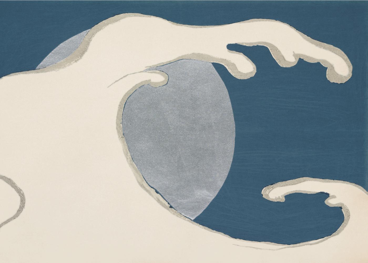 Billede af Full moon - Japansk kunstplakat