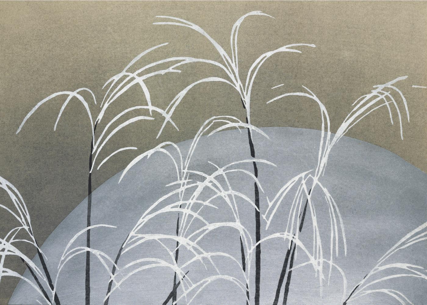 Billede af Reeds - Japansk kunstplakat