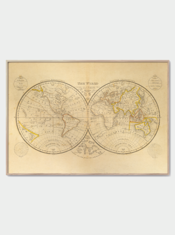 vintage verdenkort