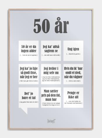 plakat med sjove 50-års fødselsdags citater