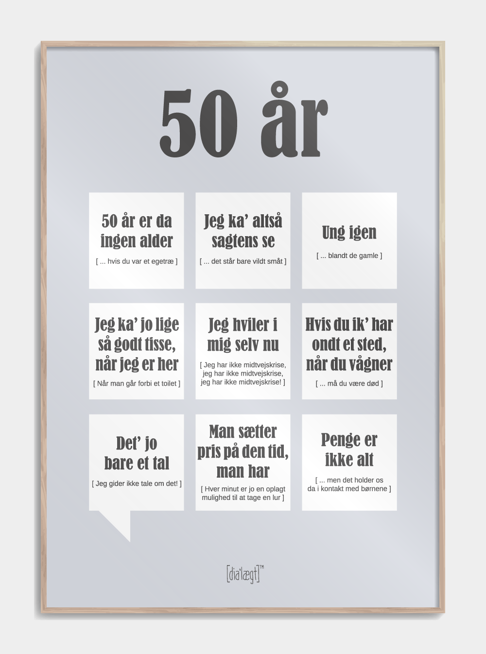 Image of   50 år plakat