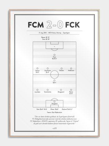 FC Midtjylland fan plakat