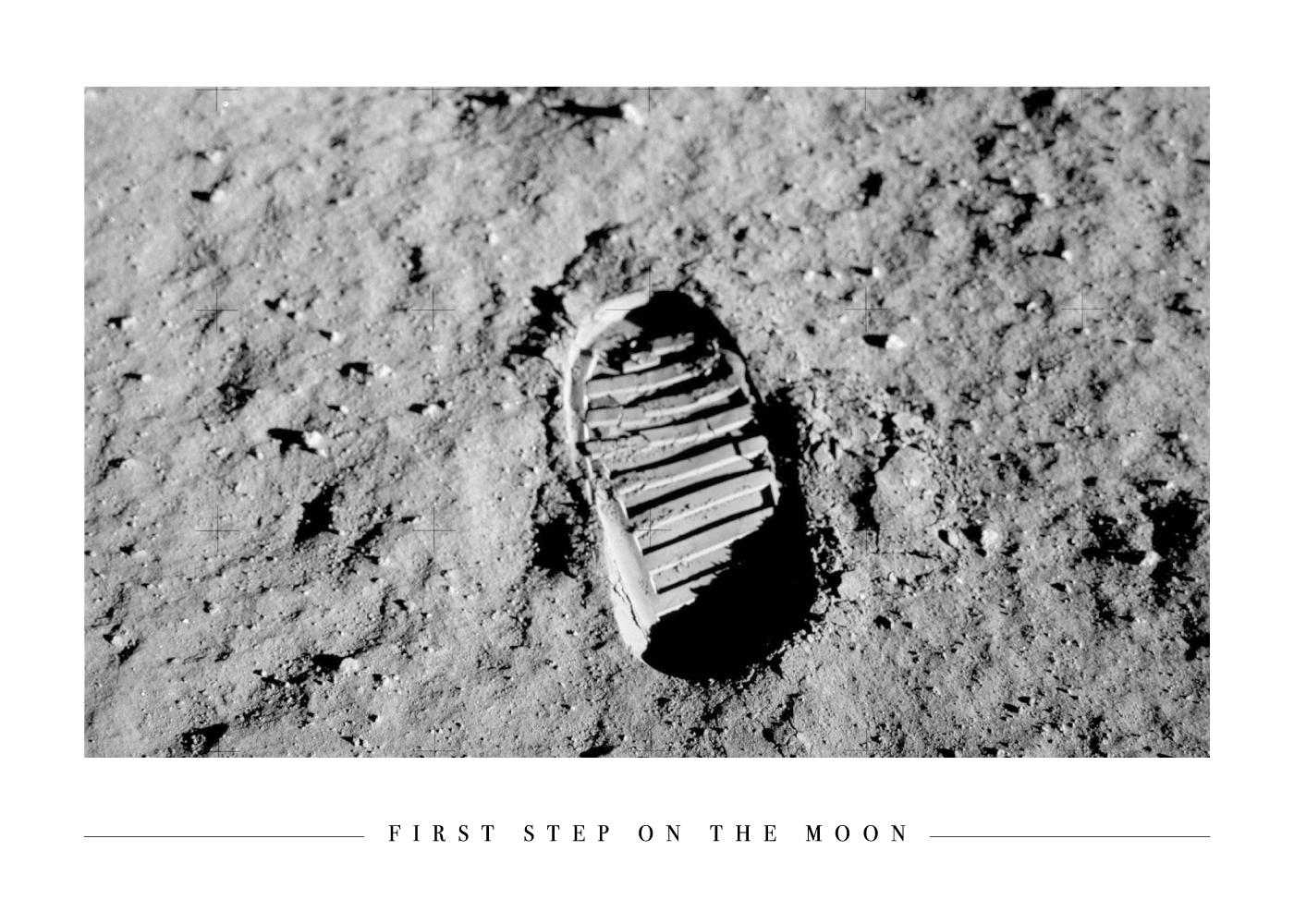 Billede af First step on the Moon - Plakat