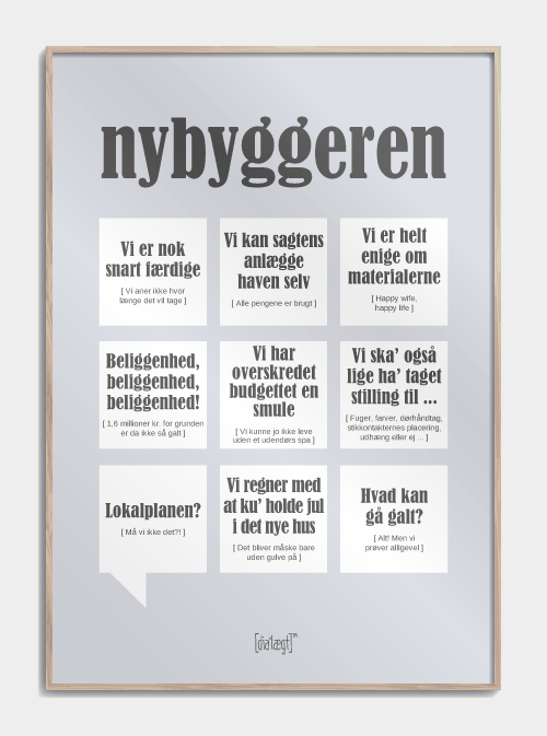 nybygger plakat i grå