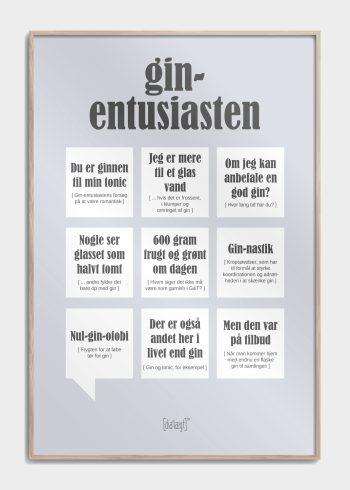 gin entusiasten i grå