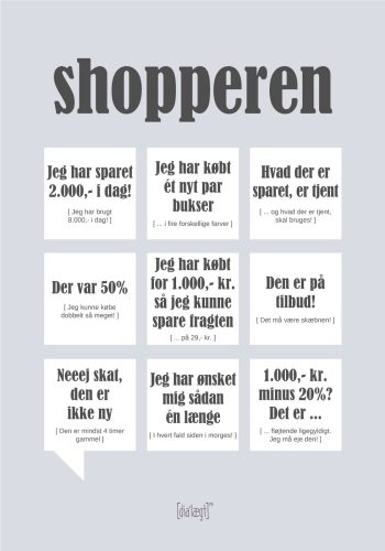 shopper plakat i grå
