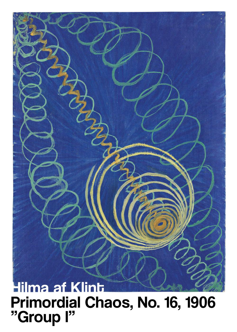 Billede af Primordial Chaos No. 16 - Hilma af Klint kunstplakat