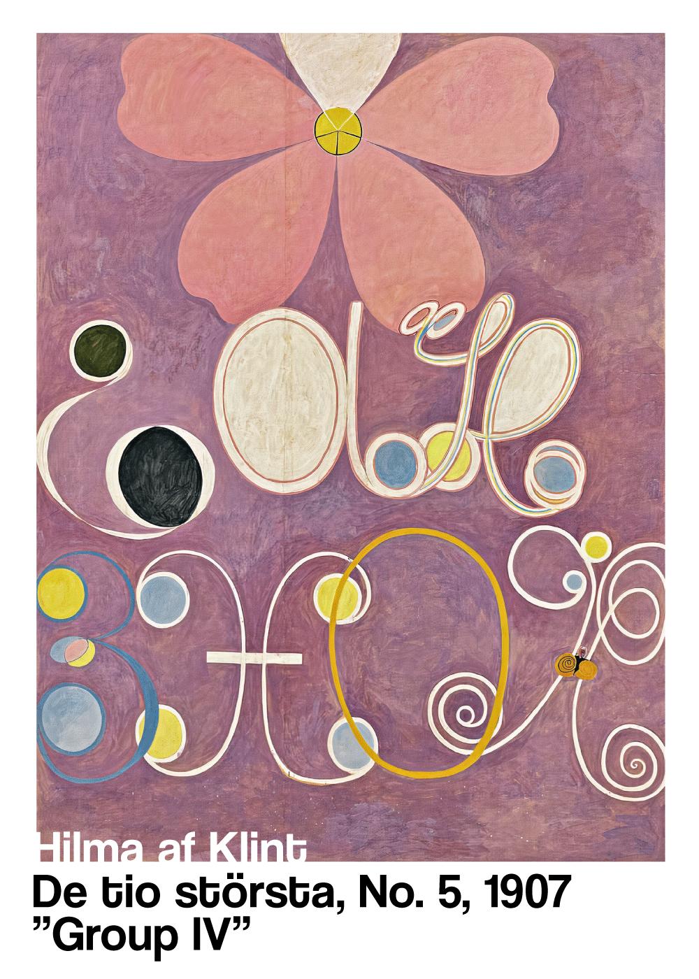 Billede af De tio störste No. 5 - Hilma af Klint kunstplakat