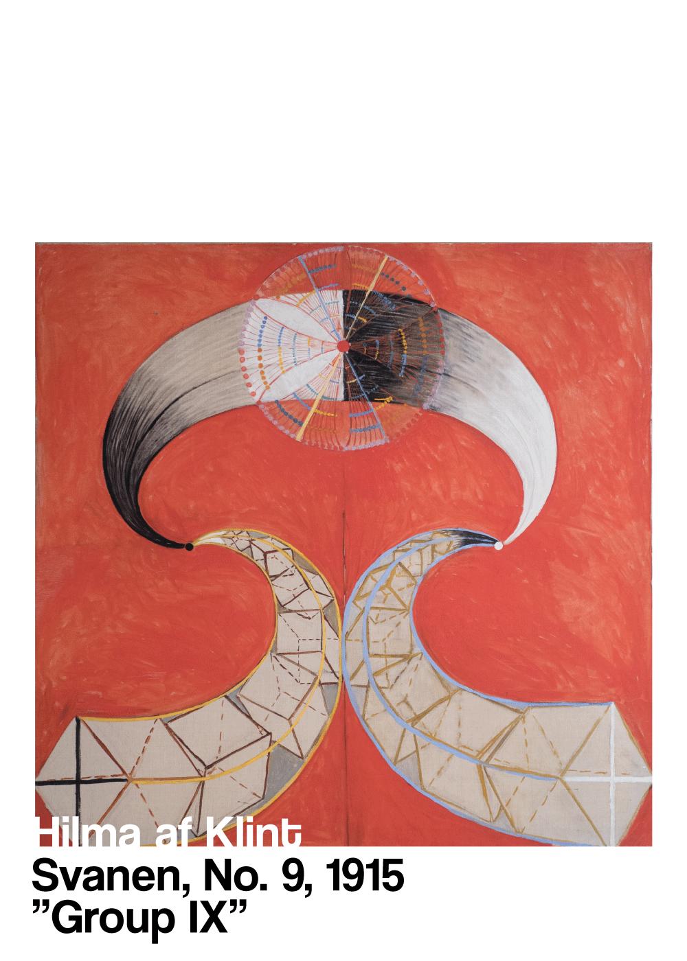 Billede af Svanen No. 9 - Hilma af Klint kunstplakat