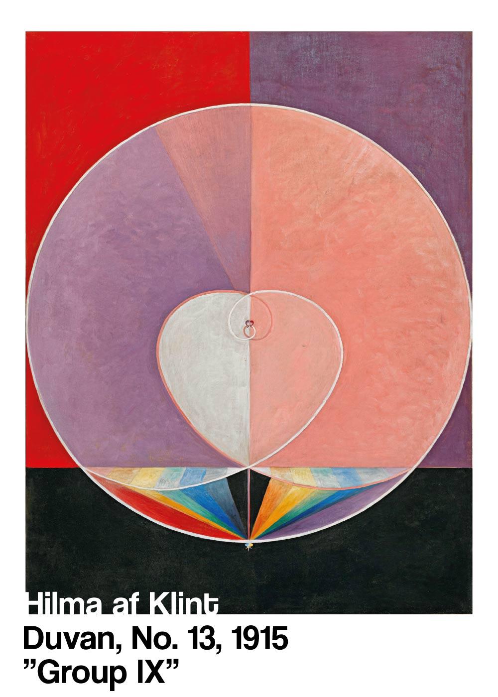 Billede af Duvan No. 13 - Hilma af Klint kunstplakat