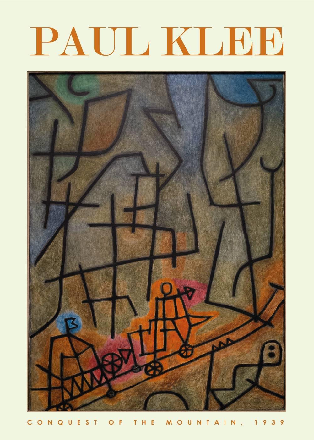 Billede af Conquest of the mountain - Paul Klee Kunstplakat