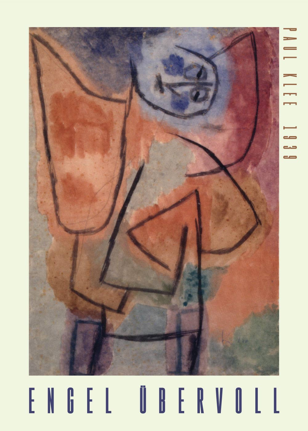 Billede af Engel übervoll - Paul Klee Kunstplakat