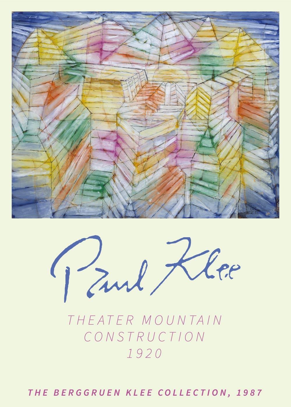 Billede af Theater mountain construction - Paul Klee Kunstplakat