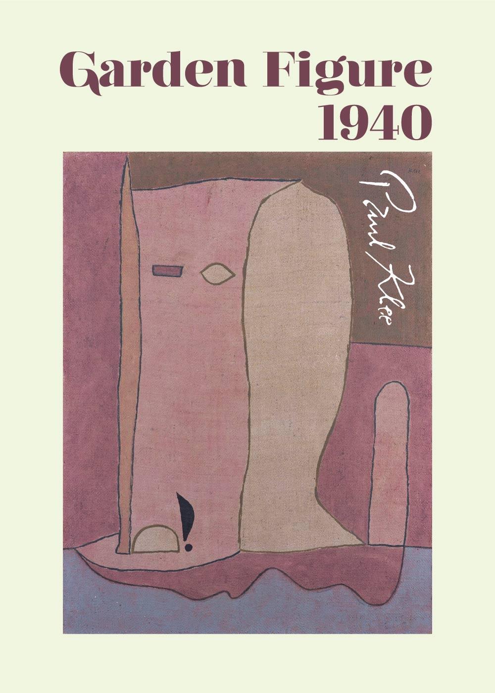 Billede af Garden figure - Paul Klee Kunstplakat