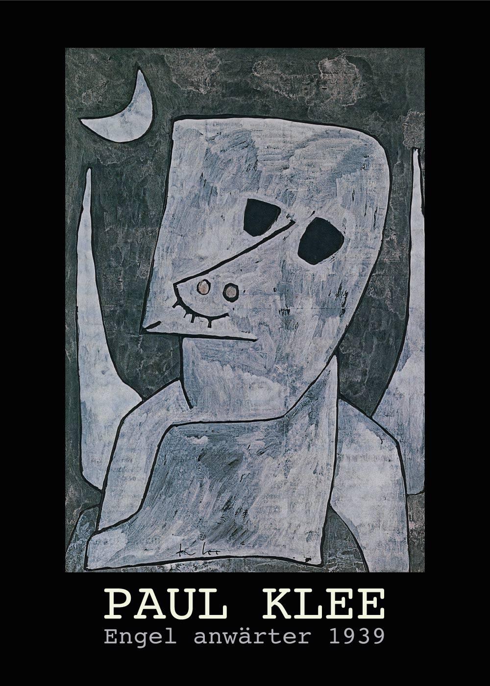 Engel anwärter - Paul Klee Kunstplakat